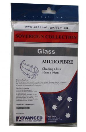 Advanced Premium Microfibre Cloth Glass Grey 40cmx40cm Packaged